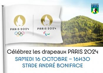 La Ville d'Élancourt accueille les drapeaux officiels de Paris2024!
