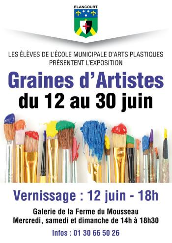 Graines d'artistes, exposition collective des élèves de l'École Municipale d'Arts Plastiques