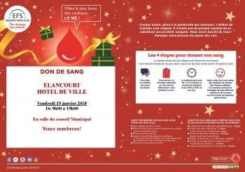Donnez votre sang le 19 janvier